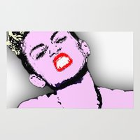 miley cyrus Area & Throw Rugs featuring Miley Cyrus by D Arnold Designs