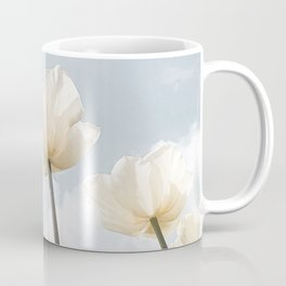 White Tulips In Spring In Holland Photo | Dutch Flowers Art Print |  Europe Travel Photography Coffee Mug