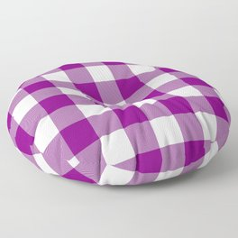 Gingham (Purple/White) Floor Pillow