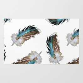 Duck Feathers Rug