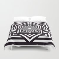 running Duvet Covers featuring Running Out by Cs025