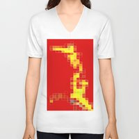 pixel V-neck T-shirts featuring Pixel  by Lior Blum