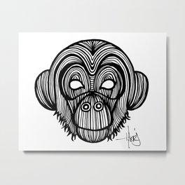 The Monkey Metal Print
