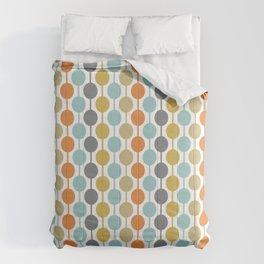 Retro Circles Mid Century Modern Background Comforters