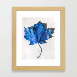 Blue Leaf 1 Framed Art Print