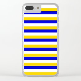 Bosnia Herzegovina Uruguay flag stripes Clear iPhone Case