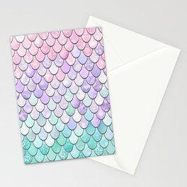 Cute Pretty Fun Girly Pattern, Ombre Pastel Pink, Purple, Teal Stationery Cards