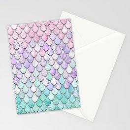 Girls Cute Mermaid Pattern, Pink, Purple, Teal Stationery Cards