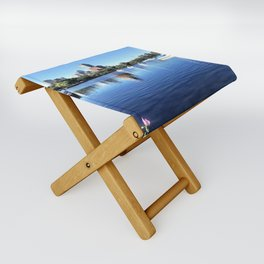 Sailboats on the Shore Folding Stool