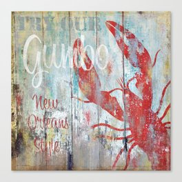 New Orleans Gumbo Sign Canvas Print