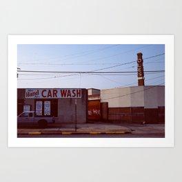 Carwash on film Art Print