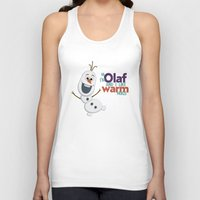 olaf Tank Tops featuring Olaf by An Illustrated Dream