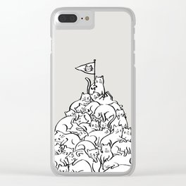 Meowtain Clear iPhone Case