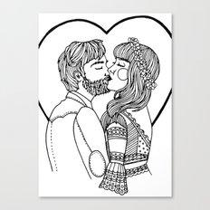 True loves kiss Canvas Print