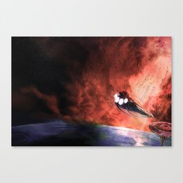 The Intrepid arrives at Carthage Canvas Print