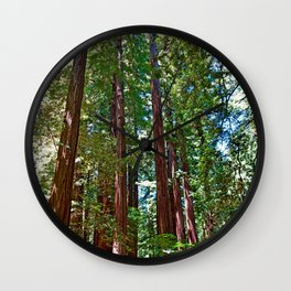 Muir Woods Study 16 Wall Clock