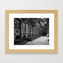 Brownstones of the Upper West Side Framed Art Print
