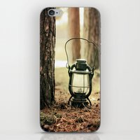 camping iPhone & iPod Skins featuring camping by katelyndee