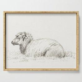 Standing sheep (1812) by Jean Bernard (1775-1883) Serving Tray