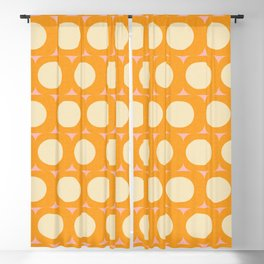 Dots and Triangles Yellow  #midcenturymodern Blackout Curtain