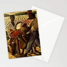 African American Masterpiece 'Employment of Negroes in Agriculture' by Earle Wilton Richardson Stationery Cards