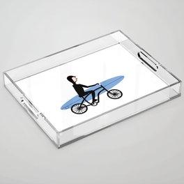 Winter surfer Acrylic Tray