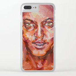 Oil Study Clear iPhone Case