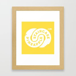PineappleStaircase | Official Logocolor 2016 in Yellow/White Framed Art Print