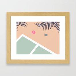 Tennis Court #society6 #decor #buyart Framed Art Print
