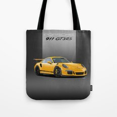 Porsche 911 GT3 RS in Racing Yellow Tote Bag