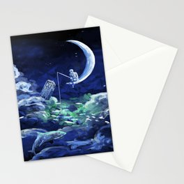The Doctor Dreaming Of Fishing Stationery Cards