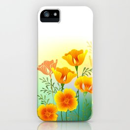 Background with California Poppy iPhone Case