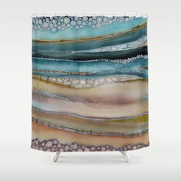 The Shore of Komodo Island Shower Curtain