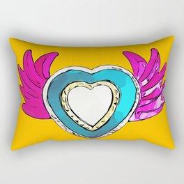 FLYING HEART - YELLOW Rectangular Pillow