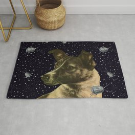 Gagarin space art #2 - Laika Rug