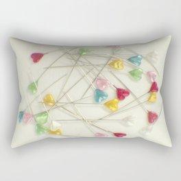 I heart pins Rectangular Pillow