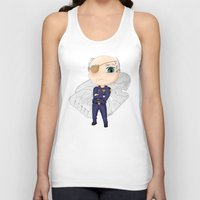 battlestar Tank Tops featuring Colonel Tigh | Battlestar Galactica by The Minecrafteers