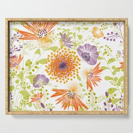 Floral print for spring Serving Tray