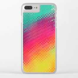 Halftone Smear Clear iPhone Case