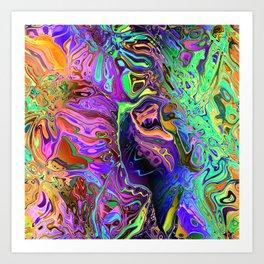 Reflective Colors Abstract Art Print
