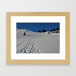Leave only footprints  Framed Art Print