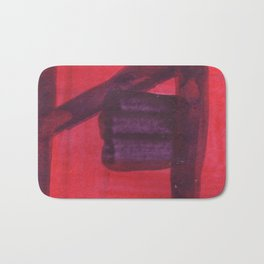 red and Purple Bath Mat