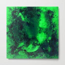 psychedelic color gradient pattern splatter watercolor green Metal Print