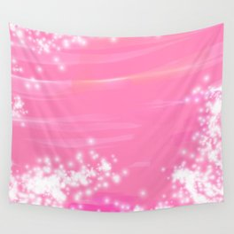 Pink Sparkles Wall Tapestry
