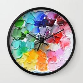 Tinted Polka Daubs Wall Clock