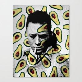 Albert Camus Avocado Pattern Canvas Print