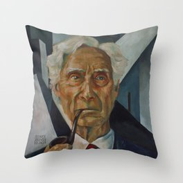 Bertrand Russell Throw Pillow