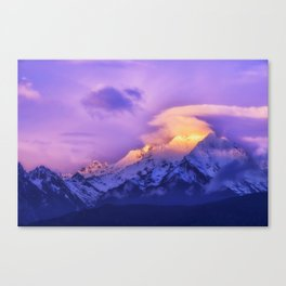 Meili Snow Mountain Shangri-la China Sunrise Canvas Print