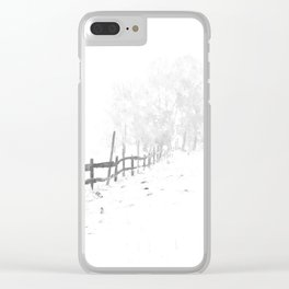 Fence and Snow Clear iPhone Case