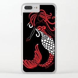 Tribal Scuba Flag Mermaid Clear iPhone Case